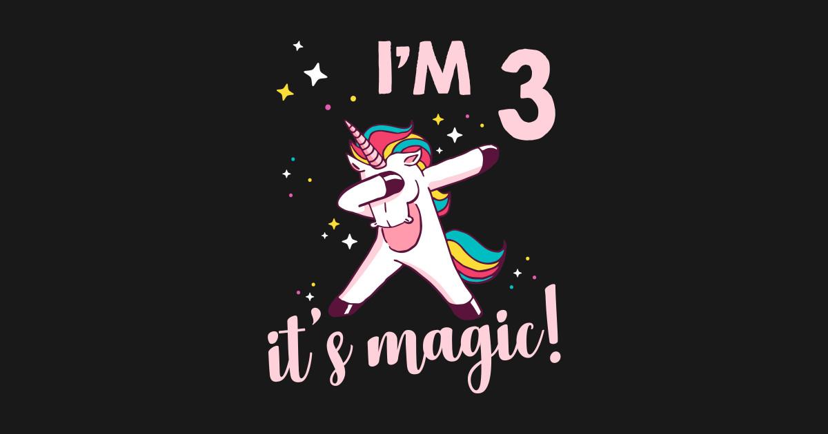 3rd Birthday Unicorn Kids T Shirt