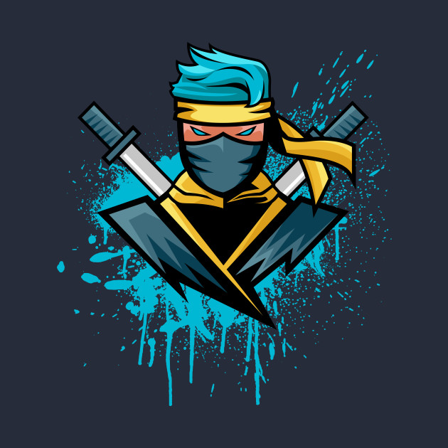 FORTNITE NINJA - Fortnite Blue Ninja - T-Shirt | TeePublic