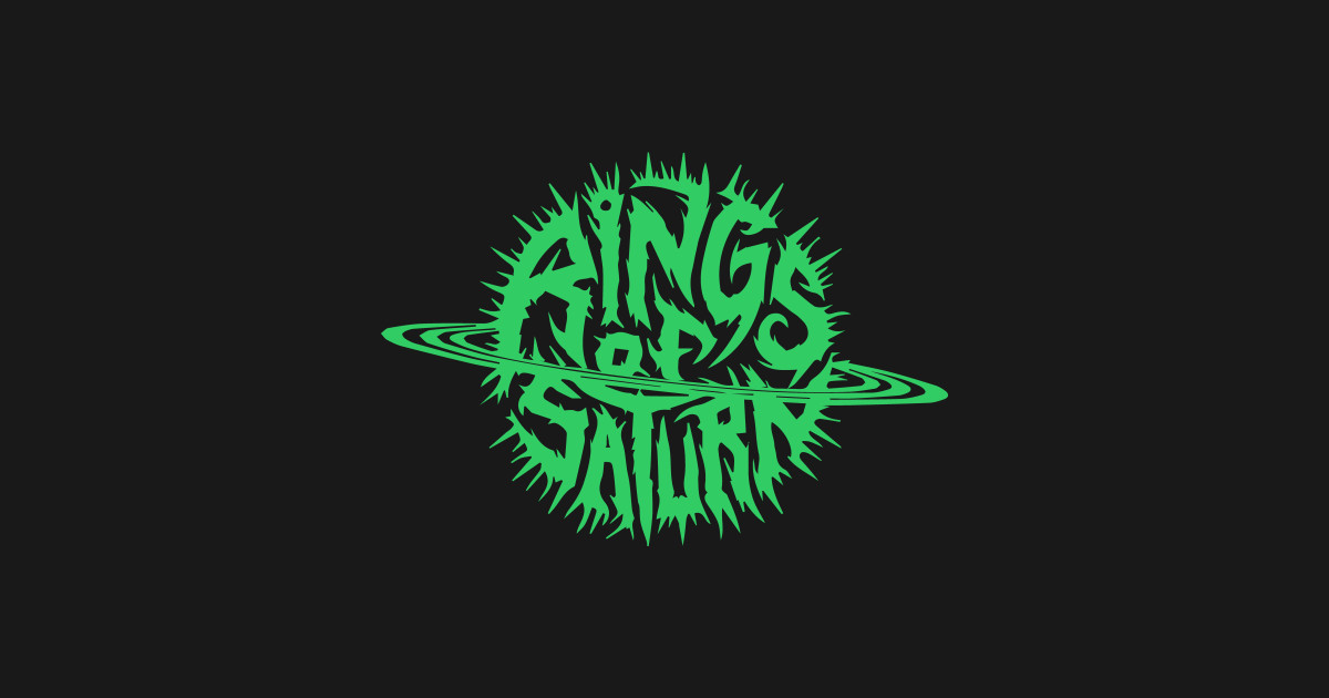 Rings of saturn band logo t shirt