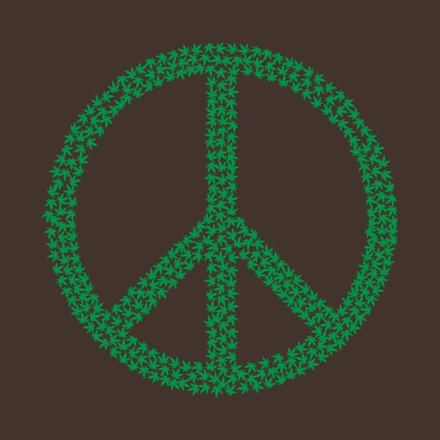 Marijuana Leaf Peace Symbol 420 Weed Ganja Shirt Cannabis T