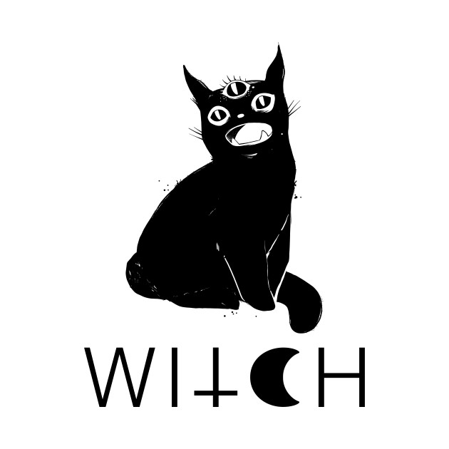Black Cat Witch Artwork