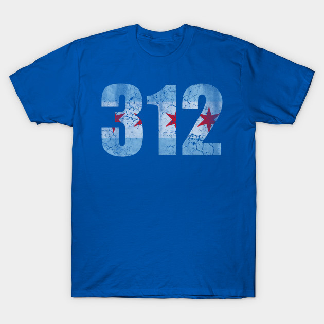 312 Chicago Flag Chicago T Shirt Teepublic