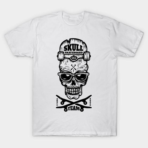 db739e976541 skateboard skull - Skateboard - T-Shirt | TeePublic
