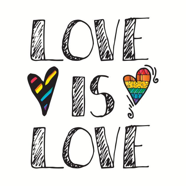Love Is Love LGBT Pride Rainbow
