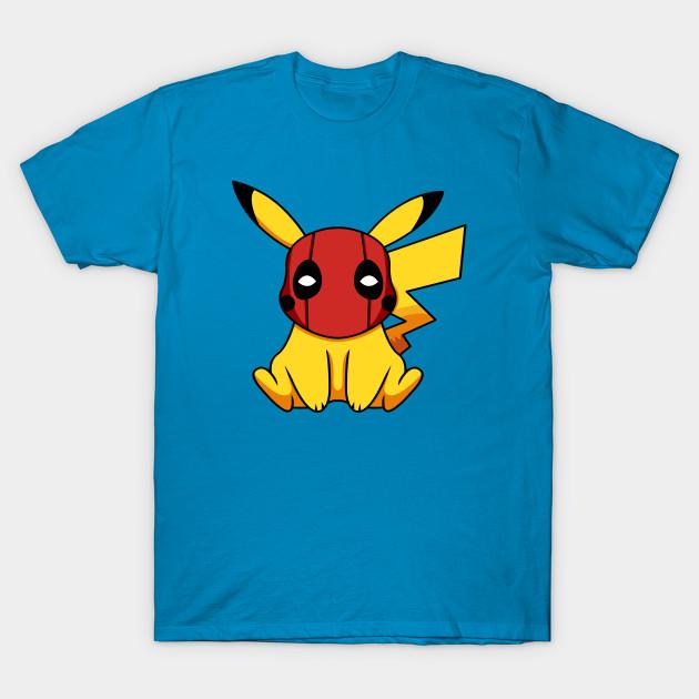55e1ba98 Pikapool Pikachu Deadpool Mashup Pokemon Detective Pikachu T-Shirt