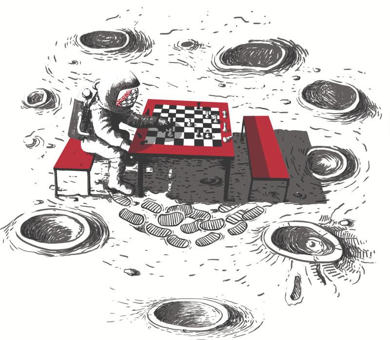 Resultado de imagen para astronaut kid playing chess