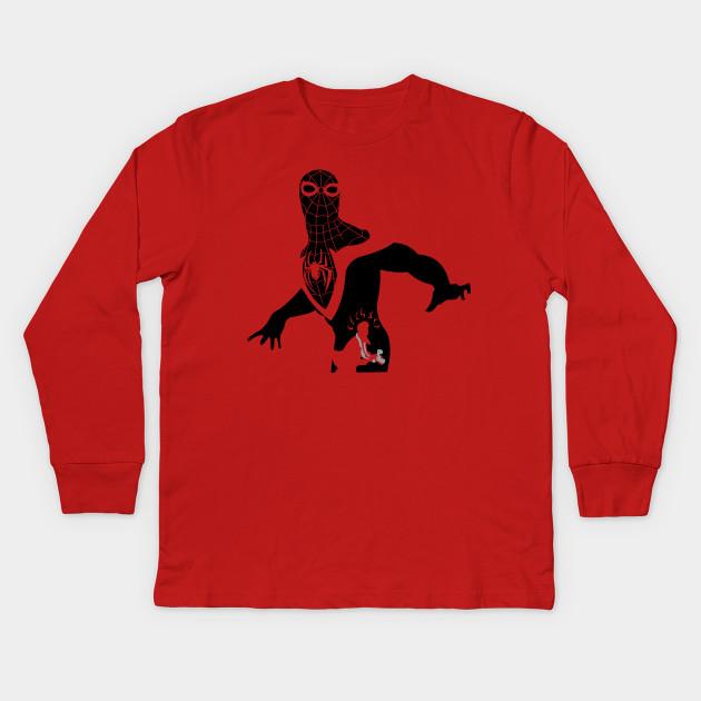 49bcd04b0ee Spiderman Silhouette - Spider Man - Kids Long Sleeve T-Shirt | TeePublic