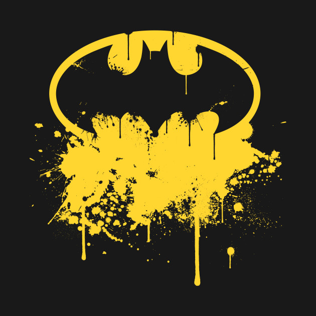 Batman Logo Splatter