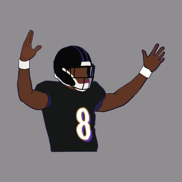 promo code bd3a3 d421c Lamar Jackson Touchdown Celebration - Baltimore Ravens