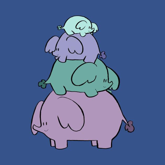 Cute Elephant Stack