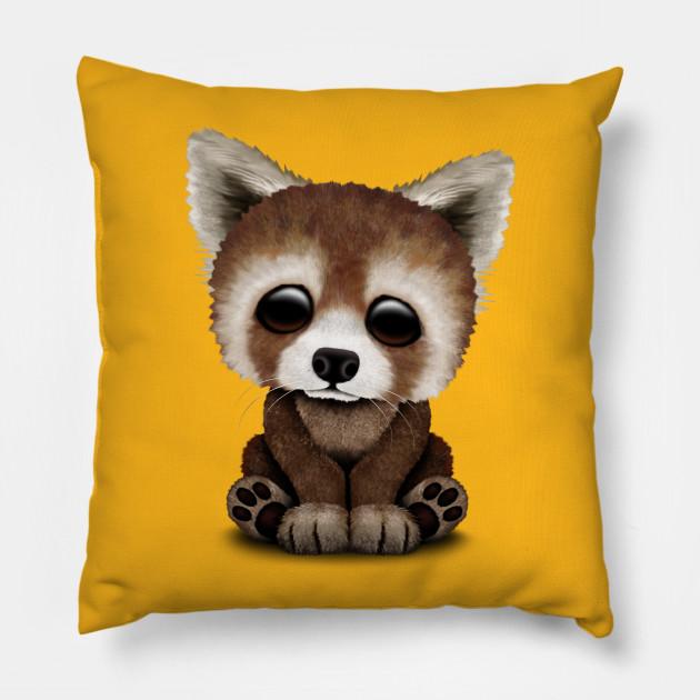 Cute Baby Red Panda Red Panda Pillow Teepublic