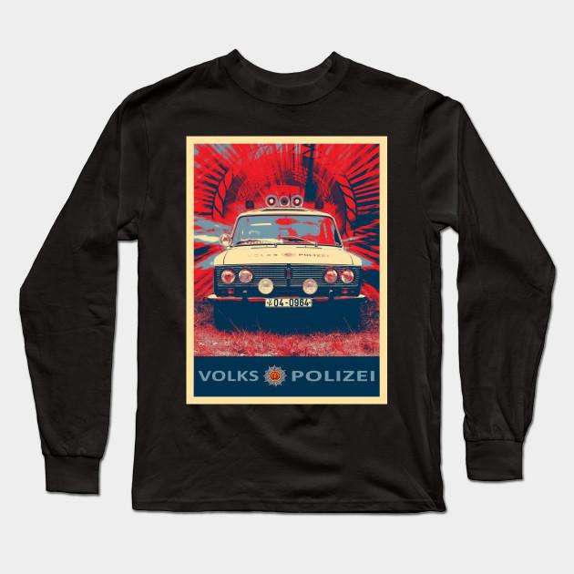 Ddr Police Car Volkspolizei Gdr Long Sleeve T Shirt Teepublic