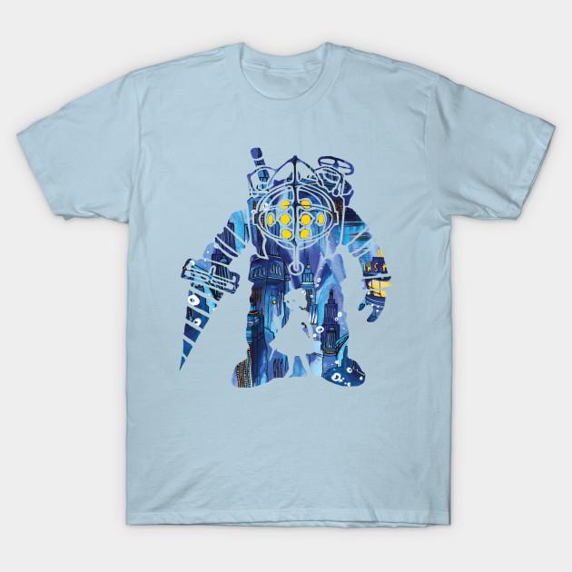 bioshock silhouette bioshock t shirt teepublic