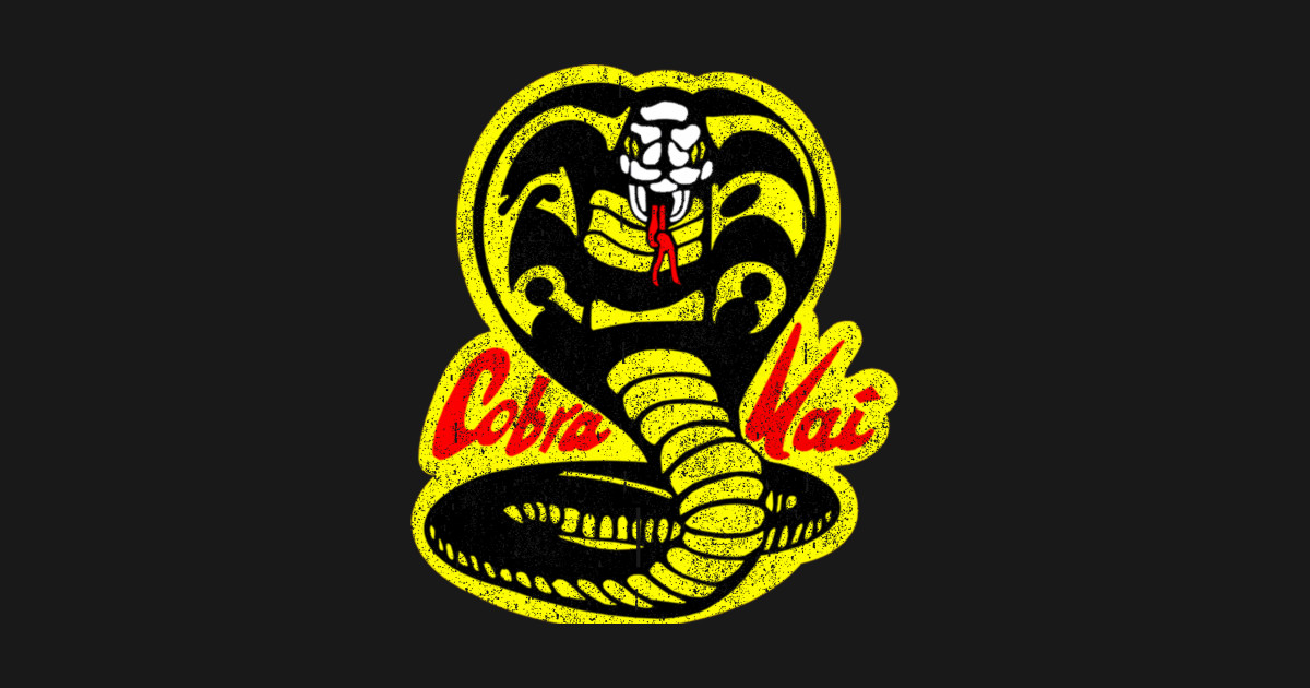 Original Vintage Distressed Cobra Kai Dojo Logo - Cobra ...