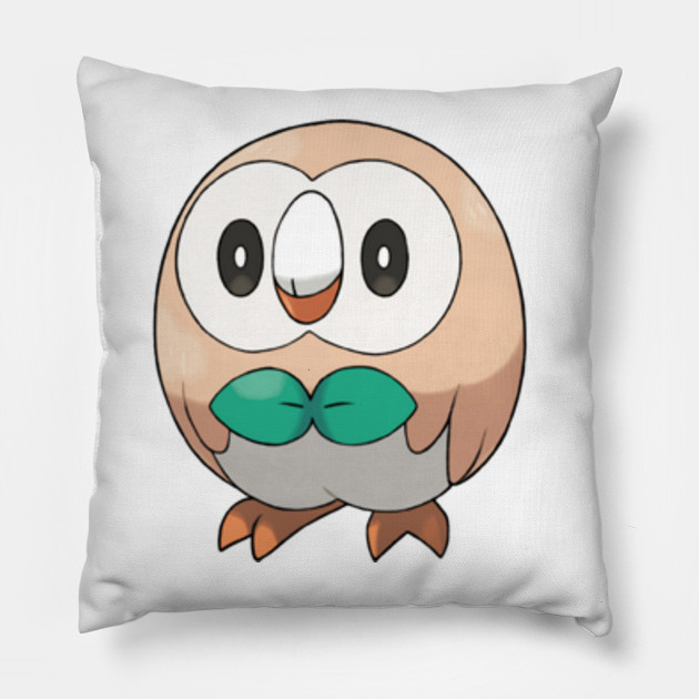 Rowlet Pokemon Pokemon Rowlet Pillow Teepublic