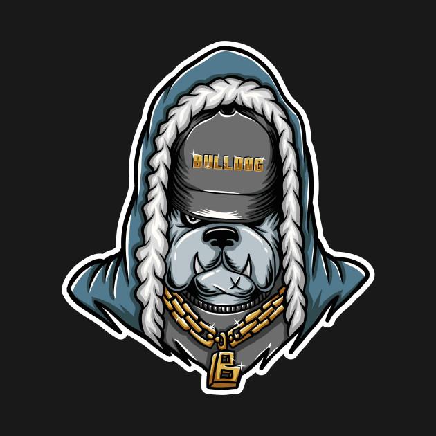 Blood splatter zombie. Bulldog bulldoge rapper rap