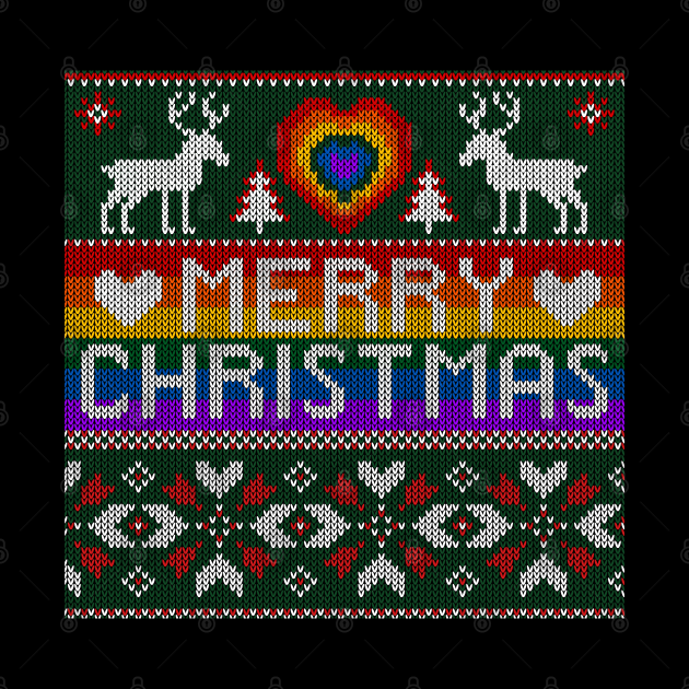 LGBT Christmas Ugly Sweater Gay Lesbian