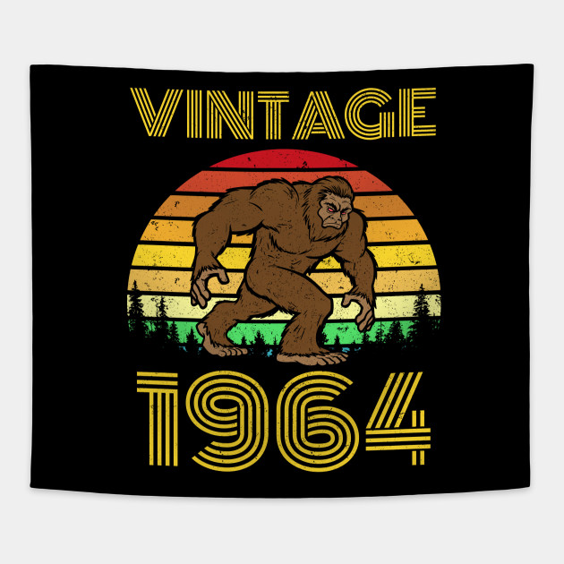 1964 55th Birthday Vintage Bigfoot 55 Years Old Gift Tapestry