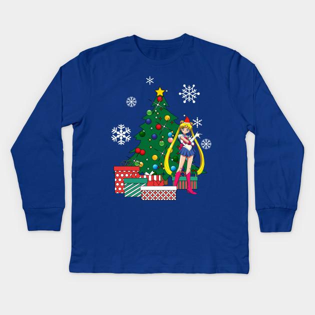 Sailor Moon Christmas Sweater.Sailor Moon Around The Christmas Tree