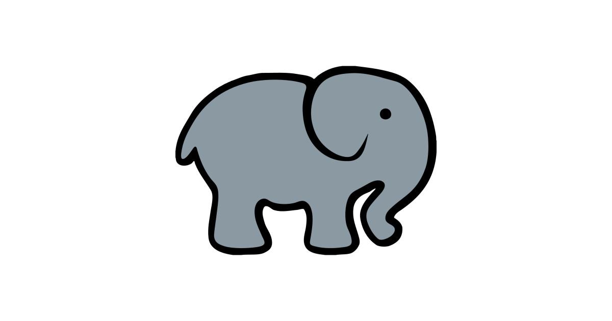 Baby Cartoon Elephant Drawing - Elephant - T-Shirt   TeePublic