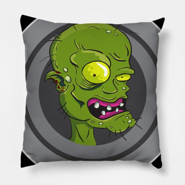 Funny Halloween Green Zombie