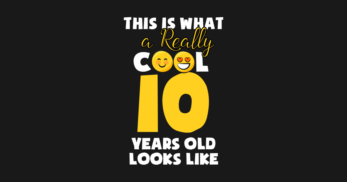 Kids Emojicon 10th Birthday Gifts 10 Year Old Girls T Shirt Hoodie
