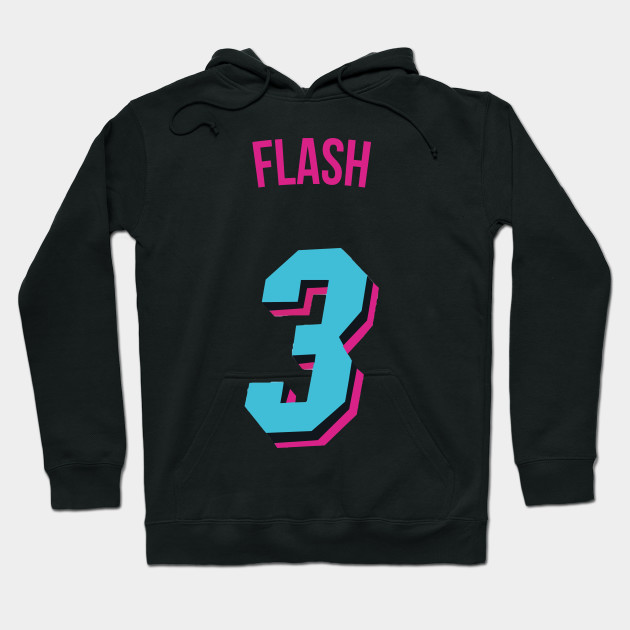 sports shoes 0c377 8843c Dwyane Wade  Flash  Nickname Jersey - Miami Heat Hoodie