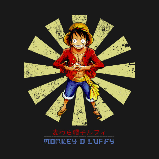 Monkey D Luffy Retro Japanese One Piece
