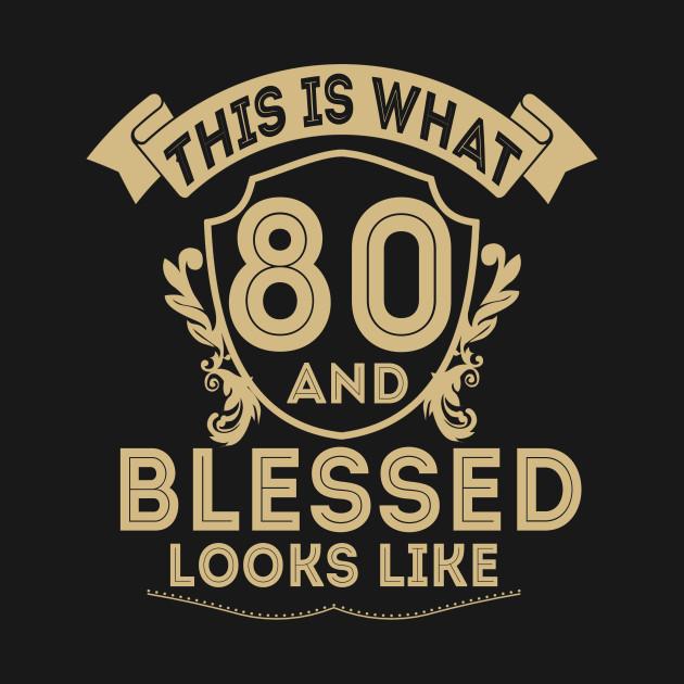 80 Year Old Man Woman Happy Birthday Shirt