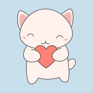 Kawaii Cute Cat T Shirt T Shirt