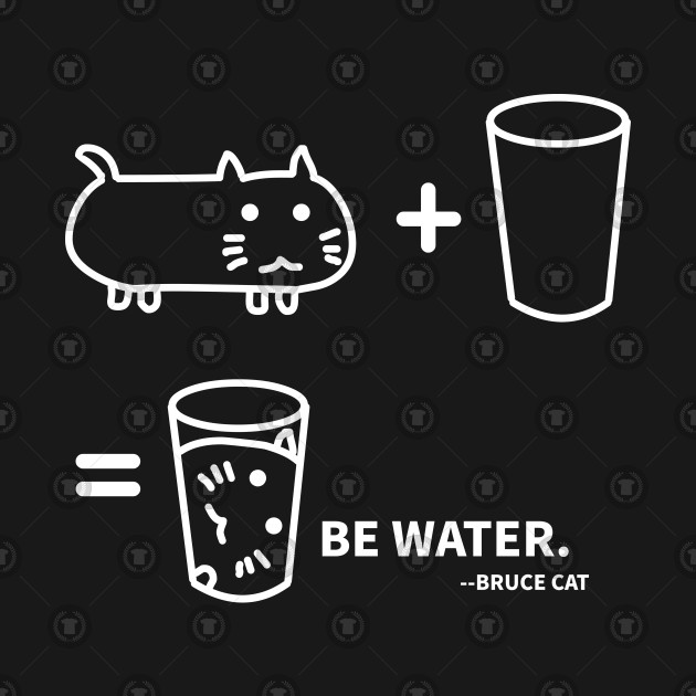 BE WATER - BRUCE CAT