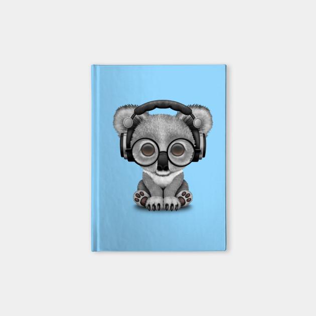 be980c3d572 Cute Baby Koala Bear Dj Wearing Headphones - Koala - Notebook ...
