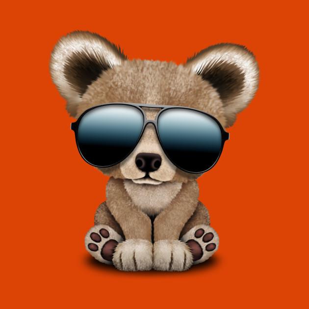 edd99954e6d Cute Baby Bear Wearing Sunglasses - Baby Bear - T-Shirt