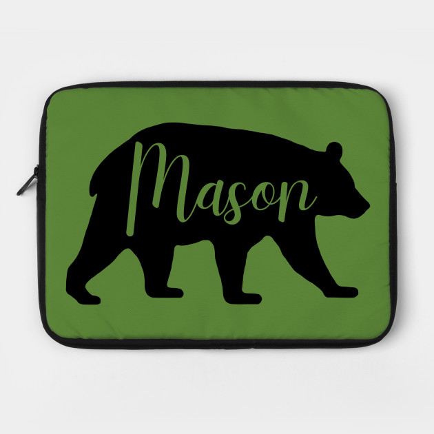 Mason Bear Spirit Animal Silhouette Personalized Name