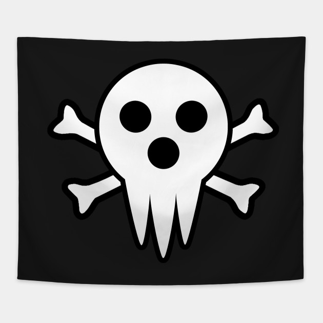 Soul Eater Lord Death Jolly Roger Anime Tapestry Teepublic