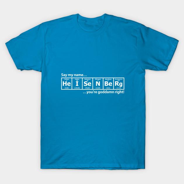 Heisenberg periodic table breaking bad t shirt teepublic 1643498 1 urtaz Image collections