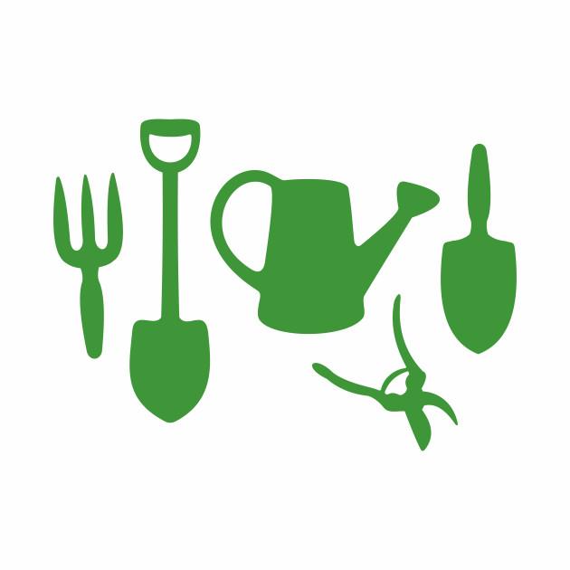 Green Garden Tools - Gardening - Baseball T-Shirt | TeePublic