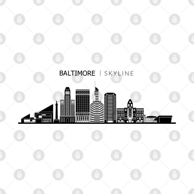 Baltimore City Skyline Travel