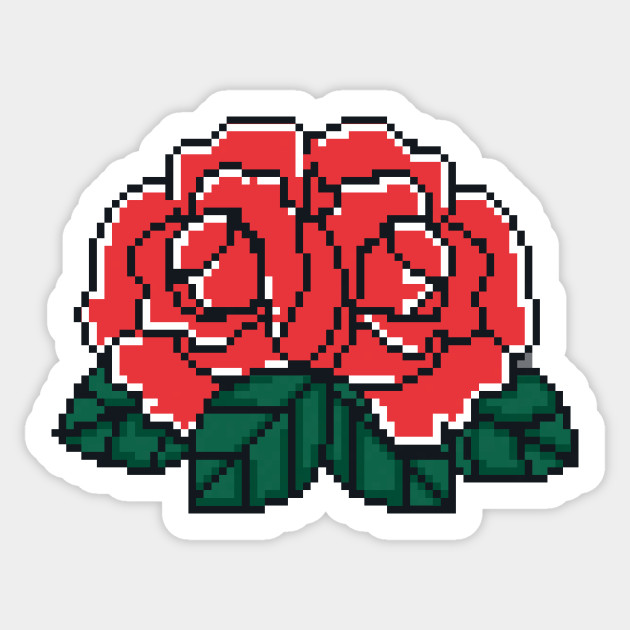 Pixel Roses - Pixelart - Sticker