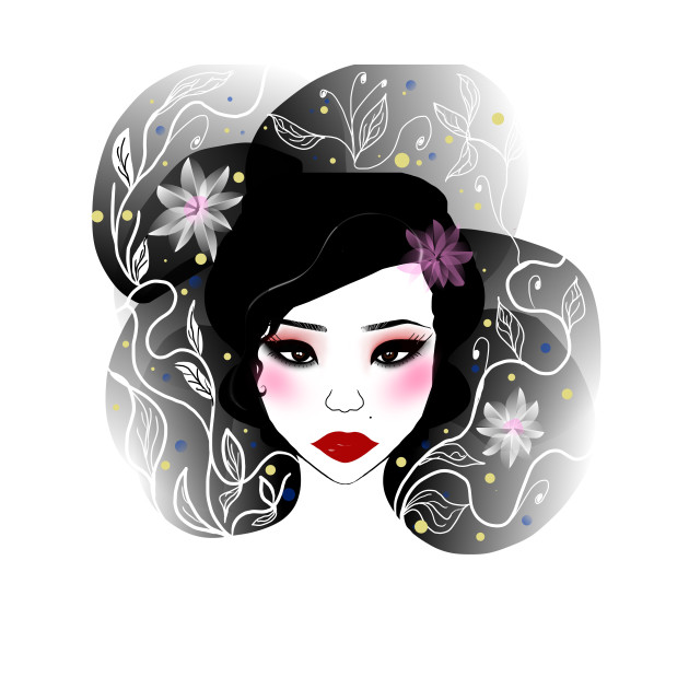 Asian girl illustration any case