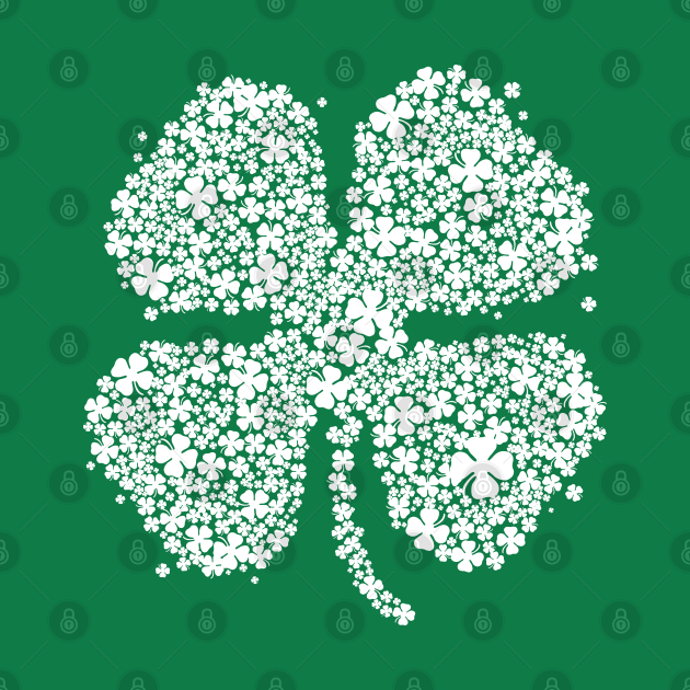 Four Leaf Clover Green Shirt St Patricks Day Shamrock Shirt III