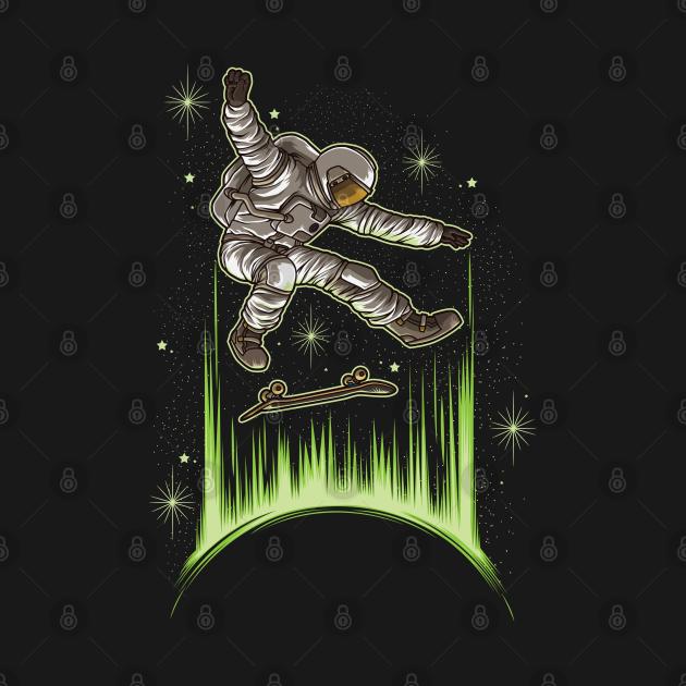 Skating Astronaut   Skateboard Skater Skate Sport