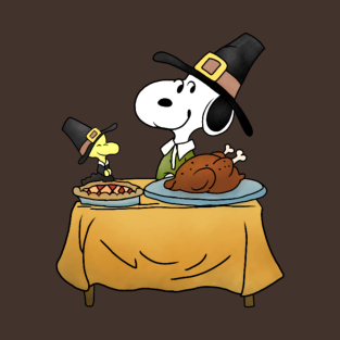Thanksgiving Snoopy t-shirts