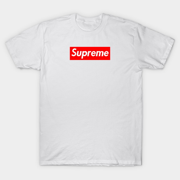 Red Supreme logo - Supreme - T-Shirt  efabd6694