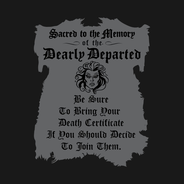 Haunted Mansion Death Certificate Haunted Mansion T Shirt