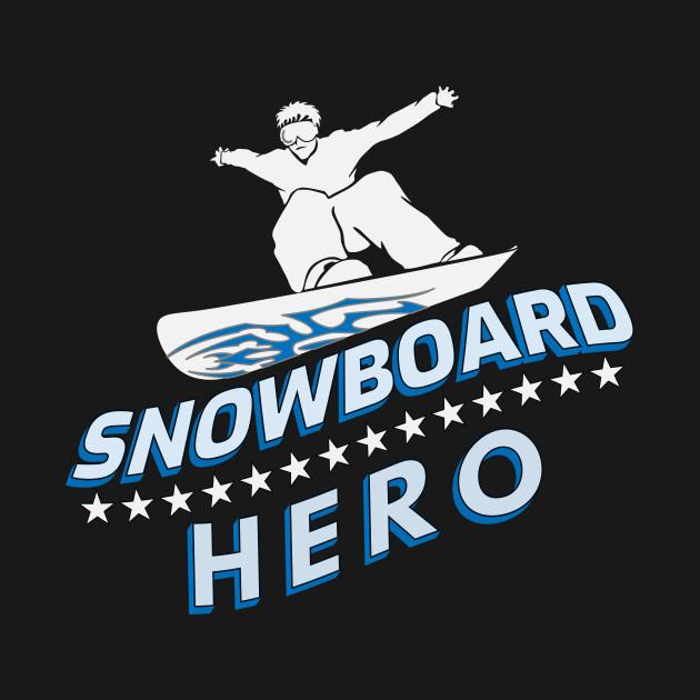 Snowboard Hero Winter Mountains Snow Gift