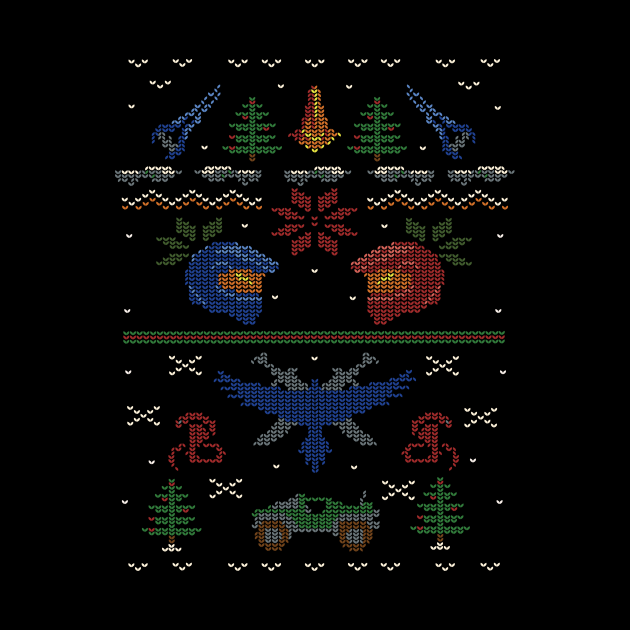 Ugly Red vs Blue Christmas Sweater