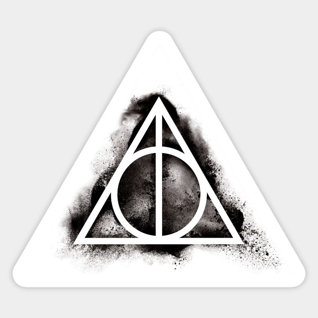 Harry Potter Deathly Hallows Black Sand Triangle Elder Wand