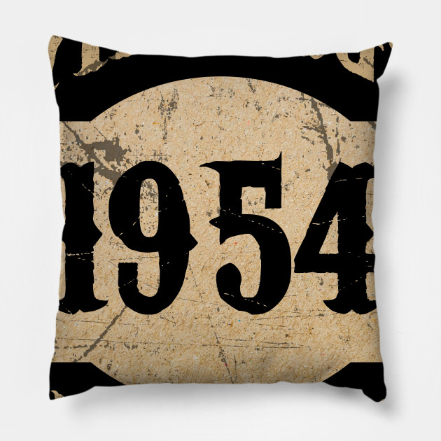 1954 64 Years Old 64th B Day Limited Birthday Gift T Shirt Pillow