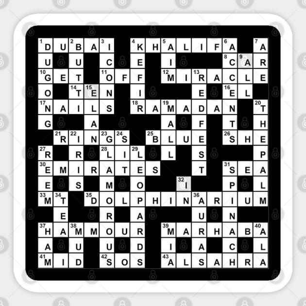Genesis Creator Crossword Clue Crossword Sticker Teepublic